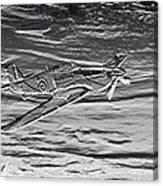 Hurricane Fighter Plane Relief Canvas Print
