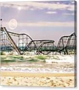 Hurricane Sandy Jetstar Roller Coaster Sun Glare Canvas Print