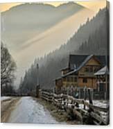 Hutsul Village Canvas Print