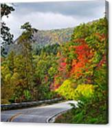 Hwy 281 In The Fall  Canvas Print