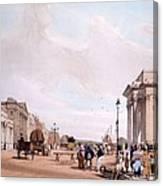 Hyde Park Corner, Looking Canvas Print