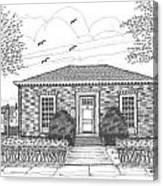 Hyde Park Public Library Canvas Print