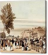 Hyde Park, Towards The Grosvenor Gate Canvas Print