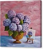 Hydrangeas From My Garden Canvas Print