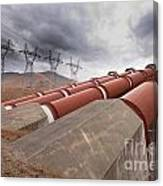 Hydroelectric Plant In Renewable Energy Concept Canvas Print