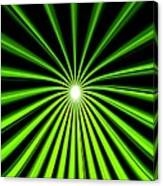 Hyperspace Electric Green Portrait Canvas Print
