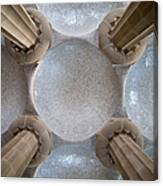 Hypostyle Room Ceiling In Park Guell Canvas Print