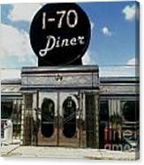 I-70 Diner In Fresco Canvas Print
