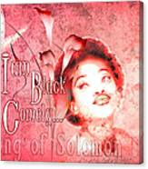 I Am Black And Comely Canvas Print