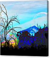I Am And You Are The Moonset  Acknowledging And Accepting Our Past Mistakes- Autumn 1 Canvas Print