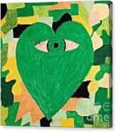 I Eye Love Green Canvas Print