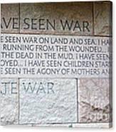 I Hate War Canvas Print
