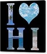 I Heart Hi  Canvas Print