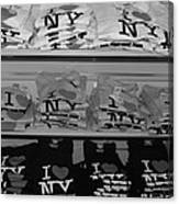 I Heart Ny In Black And White Canvas Print