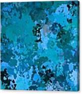 I Love Blue Canvas Print