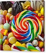 I Love Candy Canvas Print