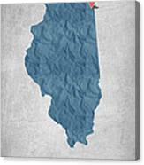 I Love Chicago Illinois - Blue Canvas Print