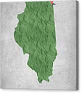 I Love Chicago Illinois - Green Canvas Print