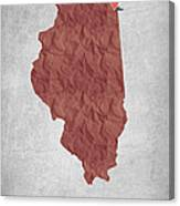 I Love Chicago Illinois - Red Canvas Print