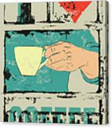 I Love Coffee. Coffee Typographical Canvas Print