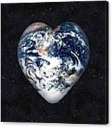 I Love Earth Canvas Print