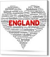 I Love England Canvas Print