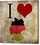 I Love Germany Canvas Print