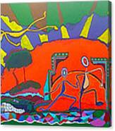 I Love Line Dancing Canvas Print