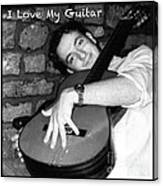 I Love My Guitar Series Bw Canvas Print