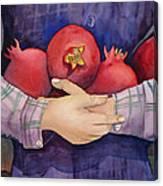 I Love Pomogranates Canvas Print