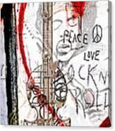 I Love Rocknroll Canvas Print