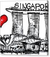 I Love Singapore Canvas Print