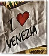 I Love Venezia Canvas Print