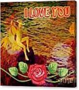 I Love You Card Canvas Print