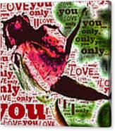 I Love You Only Abstract Canvas Print