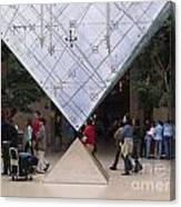 I M Pei Pyramid Inside The Louvre Entrance Canvas Print