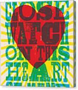 I Walk The Line - Johnny Cash Lyric Poster Canvas Print