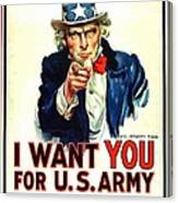I Want You For U S Army Canvas Print