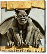I Was Made To Rule Gargoyle Santa Cruz California Canvas Print