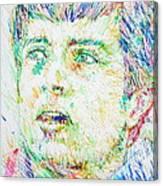 Ian Curtis Portrait Canvas Print