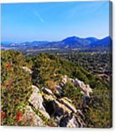 Ibiza Mountains Canvas Print