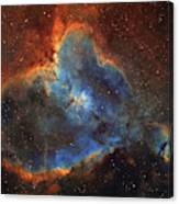 Ic 1805, The Heart Nebula In Cassiopeia Canvas Print