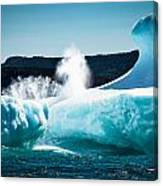 Ice And Surf Canvas Print