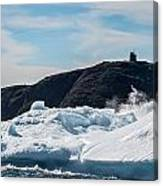 Ice And Surf Iv Canvas Print
