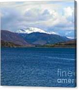Ice Capped Mountains At Ullapool Canvas Print