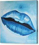 Ice Cold Lips Canvas Print