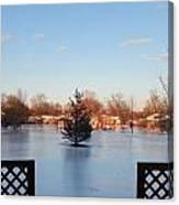 Satin Ice Covered Snow Canvas Print