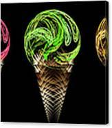 Ice Cream Cones 5 Flavors Canvas Print