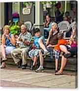 Ice Cream Eaters...an Observation Canvas Print