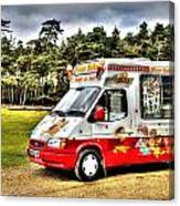 Ice Cream in the New Forest Canvas Print
